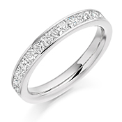 Platinum Princess Cut Diamond Channel Set Eternity Ring Diamond Weight 1.00ct