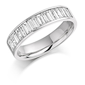 Platinum Baguette Cut Diamond Channel Set Eternity Ring Diamond Weight 1.00ct