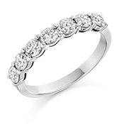 Platinum Brilliant Cut Diamond Claw Set Eternity Ring Diamond Weight 1.00ct