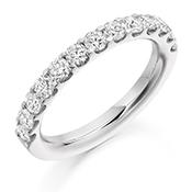 Platinum Brilliant Cut Diamond Micro Claw Set Eternity Ring Diamond Weight 1.00ct