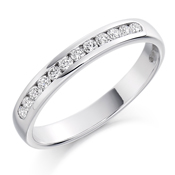 Platinum Brilliant Cut Diamond Channel Set Eternity Ring Diamond Weight 0.25ct