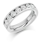18ct Gold Brilliant Cut Diamond Channel Set Eternity Ring Diamond Weight 2.00ct
