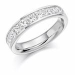 18ct Gold Princess Cut Diamond Channel Set Eternity Ring Diamond Weight 1.50ct