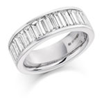18ct Gold Baguette Cut Diamond Channel Set Eternity Ring Diamond Weight 2.00ct