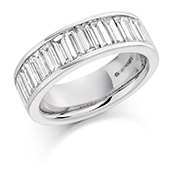Platinum Baguette Cut Diamond Channel Set Eternity Ring Diamond Weight 2.00ct