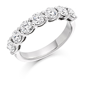 18ct Gold Brilliant Cut Claw Set Eternity Ring Diamond Weight 1.50ct