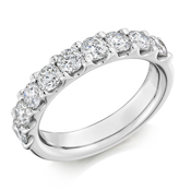18ct Gold Brilliant Cut Diamond Micro Claw Set Eternity Ring Diamond Weight 1.50ct