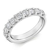 Platinum Brilliant Cut Diamond Micro Claw Set Eternity Ring Diamond Weight 1.50ct