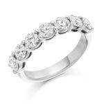 18ct White Gold Brilliant Cut Diamond Seven Stone Eternity Ring 1.50ct