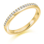 18ct Yellow Gold Brilliant Cut Diamond Offset Wedding Ring 0.22ct