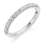 18ct White Gold Brilliant Cut Diamond Micro Claw Set Half Eternity Ring 0.50ct