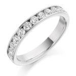 18ct White Gold Brilliant Cut Diamond Channel Set Half Eternity Ring 0.75ct