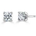 9ct White Gold AVA Diamond Stud Earrings 0.50ct