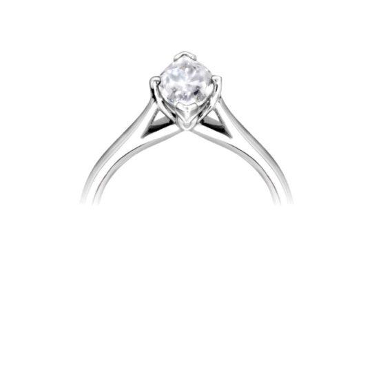 Platinum Marquise Cut Diamond Solitaire Engagement Ring 1.00ct