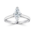 Platinum Marquise Cut Diamond Engagement Ring 1.00ct