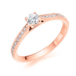 18ct Rose Gold Brilliant Cut Diamond Engagement Ring 0.40ct