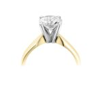 18ct Yellow Gold Brilliant Cut Diamond Engagement Ring 0.30ct