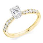Platinum Brilliant Cut Diamond Engagement Ring 0.95ct