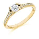 Platinum Brilliant Cut Diamond Engagement Ring 0.48ct