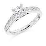 Platinum Princess Cut Diamond Engagement Ring 1.40ct
