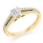 18ct Yellow Gold Brilliant Cut Diamond Engagement Ring 0.80ct