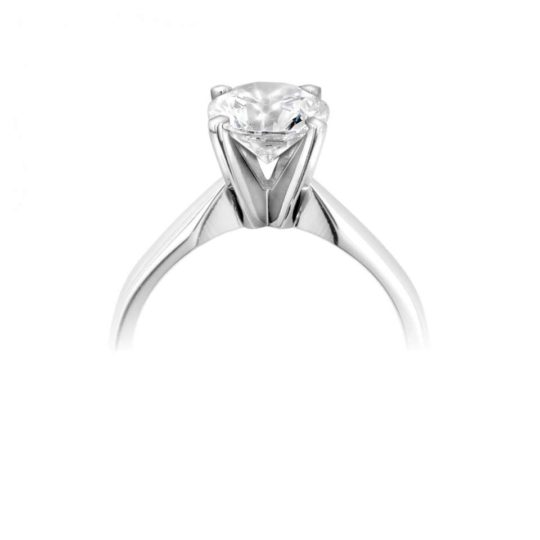Platinum Brilliant Cut Diamond Solitaire Engagement Ring 0.50ct