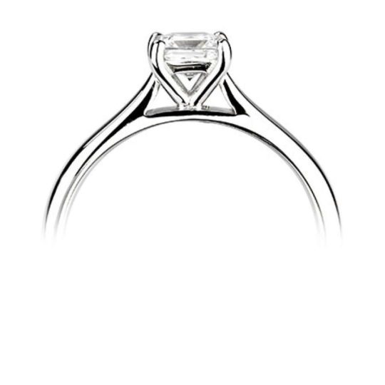 Platinum Princess Cut Diamond Solitaire Engagement Ring 0.40ct