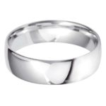 Gents Platinum 6mm Light Court Wedding Ring