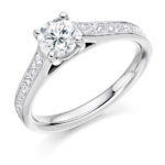 18ct Yellow Gold Brilliant Cut Diamond Solitaire Engagement Ring 1.35ct