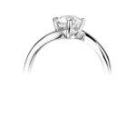 Platinum Brilliant Cut Diamond Engagement Ring 0.50ct