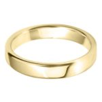 Classic broad court wedding band