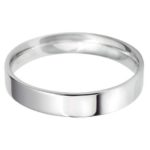 Modern Platinum Wedding Band for Males