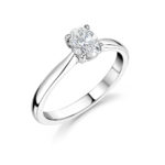 Platinum Oval Cut Diamond Solitaire Engagement Ring 0.70ct