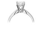 Platinum Princess Cut Diamond Solitaire Engagement Ring 0.80ct