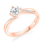 Platinum Brilliant Cut Diamond Engagement Ring 0.85ct