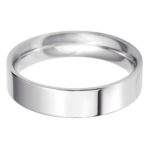 Gents Platinum 5mm Flat Court Wedding Ring