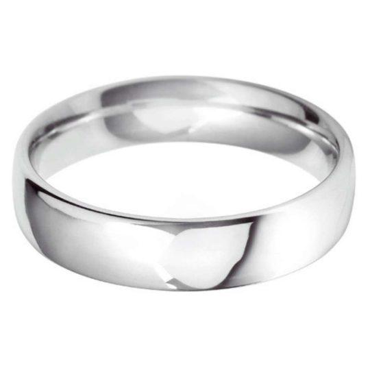 Gents Platinum 5mm Court Wedding Ring