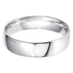 Classic gents platinum wedding band