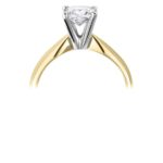 18ct Yellow Gold Princess Cut Diamond Solitaire Engagement Ring 0.80ct