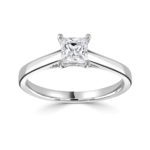 Platinum Princess Cut Diamond Solitaire Engagement Ring 1.00ct