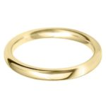 Classic Yellow Gold Wedding Band for Females