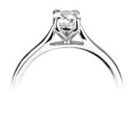Platinum Oval Cut Diamond Solitaire Engagement Ring 0.30ct