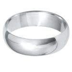 Gents Platinum 6mm D-Shape Wedding Ring