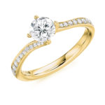 18ct Yellow Gold Brilliant Cut Diamond Engagement Ring 1.00ct