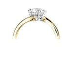 18ct Yellow Gold Brilliant Cut Diamond Engagement Ring 0.50ct