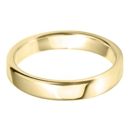 Gents 18ct Yellow Gold 4mm Court Wedding Ring