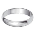 Traditional ladies white gold wedding band