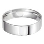 Gents Platinum 6mm Light Flat Court Wedding Ring
