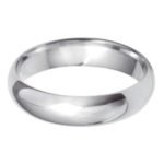 Gents 9ct White Gold 5mm D-Shape Wedding Ring