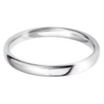 Female platinum plain wedding band